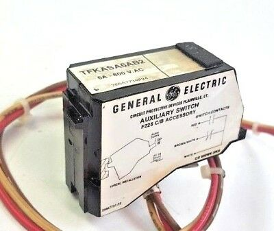General Electric 6A 600VAC Auxiliary Switch F225 C/B Accessory TFKASA6AB2
