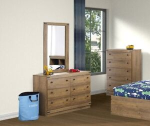 Brand new clearance sale for dresser, mirror, chest & nighstand!