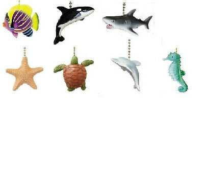 - SEA CREATURES CEILING FAN PULL-TURTLE,STARFISH,SHARK,ORCA WHALE,DOLPHIN,SEAHORSE