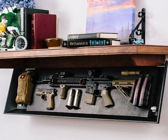 RFID Custom Tactical Concealed, Rifle Wall Shelf