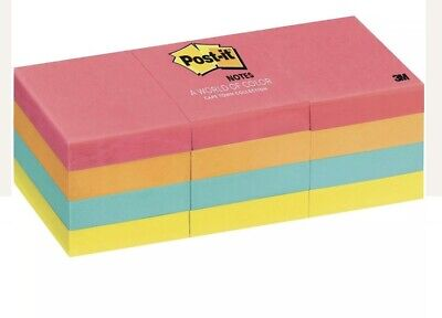 Post-it Notes 653an Cape Town Collection 1-38 X 1-78 Pack Of 12 Pads
