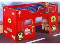 Fire engine midsleeper bed