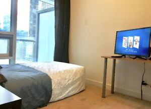 Furnished private bedroom with private washroom in a 2 bed