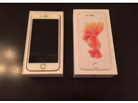 Iphone 6S rose gold 64gb on o2