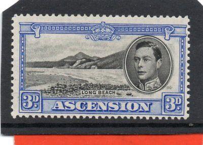 Ascension GV1 1938-53 3d black & ultramarine sg 42 VLH.Mint