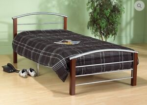 Brand New Complete Silver Twin Size Bed $198 WITH FREE DELIVERY