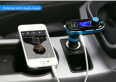 dual usb car cigarette lighter charger aux