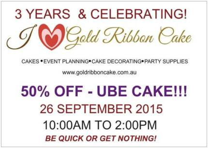 50% OFF ON UBE CAKE @ GOLD RIBBON CAKE! Rooty Hill Blacktown Area Preview