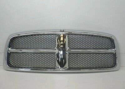 02-05 Dodge Ram 1500 2500 3500 Upper Front Grille Honeycomb Chrome HOOD GRILL OE