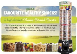 Canadian snack tower vending machines