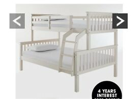 White bunk bed with small double bottom rrp £400 from littlewoods