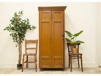 Vintage Pine Victorian Industrial Cabinet/ Locker