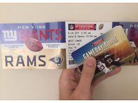 NFL NY Giants vs Rams best seats 2 tickets