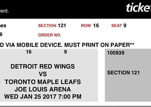 Toronto maple leafs Vs Red wings
