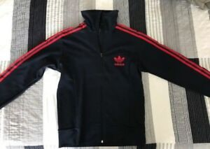 Adidas Jacket Navy Blue/Red Medium Men's