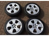 """Audi A3 Genuine OEM 17"""" Alloy Wheels with tyres"""