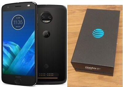 MOTOROLA MOTO Z2 FORCE XT1789 AT&T BRANDED + GSM UNLOCKED BLACK 64GB