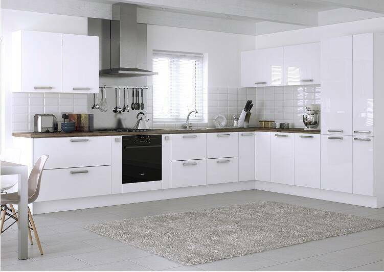 Quality Cheap White Kitchen Cabinets With Stone Top Set Pantry