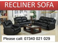 New 2 and 3 seater leather recliner sofa 493