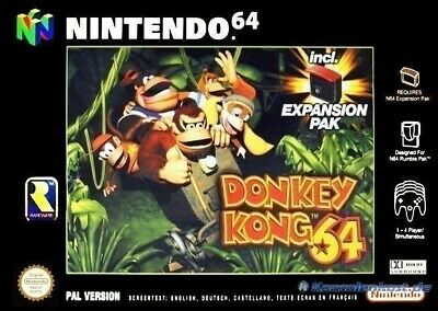 N64 game Donkey Kong 64 + Expansion Pak CIB boxed very good condition