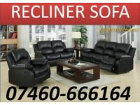 Clearance Offer - 3 and 2 seater leather recliner sofa A10211