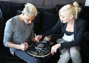 NO-DOUBT-Hand-Signed-Hamer-XL-Series-Guitar-punk-benefit-charity-gwen-stefani