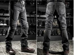 BRAND NEW! Men Women KOMINE motorcycle Jeans motorcycle Riding racing pants With Pads Small