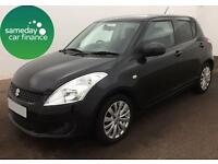 ONLY £144.55 PER MONTH BLACK 2012 SUZUKI SWIFT 1.2 SZ4 5 DOOR PETROL AUTOMATIC