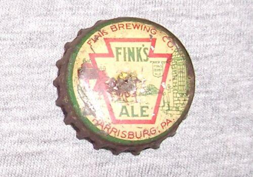 FINKS ALE BEER PA TAX  CORK BOTTLE CAP - HARRISBURG, PA.
