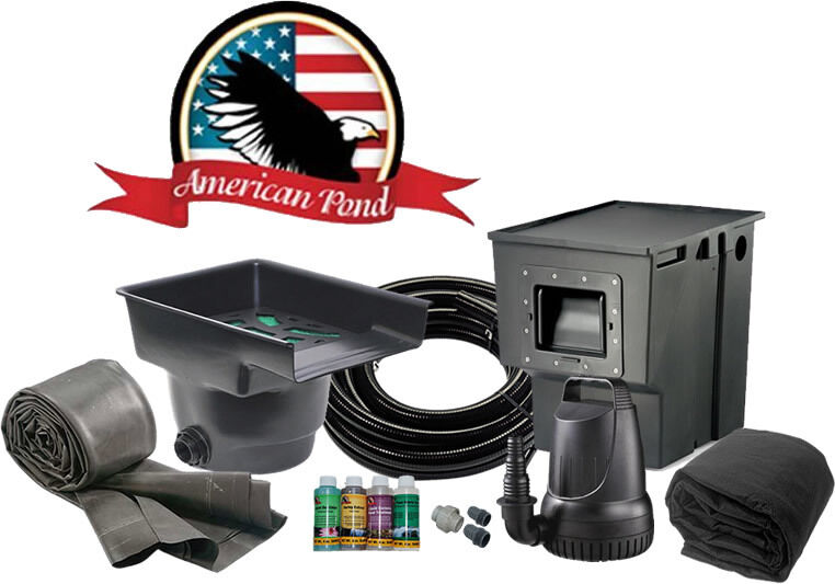 American Pond Small Freedom Series Complete DIY Pond Kit w/ Waterfall - 6