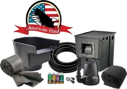 American Pond Medium Freedom Series Complete DIY Pond Kit w/ Waterfall 16