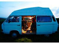 VW T25 Camper van High Top 1.9L petrol 1989