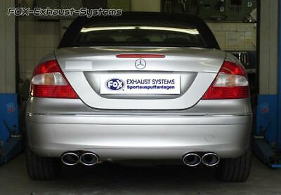 Duplex Komplettanlage Mercedes CLK W209/C209 Coupe/Cabrio ab02 je 2x115x85