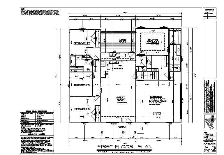 1638sf ranch house plan w garage on basement for Ranch house floor plans with basement