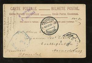 PORTUGUESE-ANGOLA-1907-PPC-to-TRANSVAAL