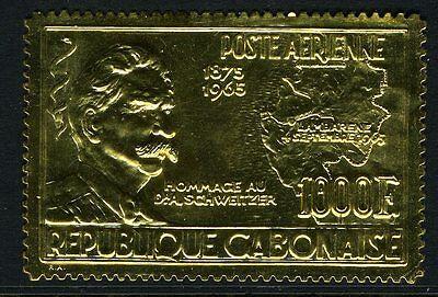 GABON-1965 1000f Gold Schweitzer Commemorative Sg 246 UNMOUNTED MINT V10512