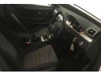 WHITE VOLKSWAGEN PASSAT CC 2.0 TDI CR 170 GTR LINE 140 5 SEAT FROM £31 PER WEEK!