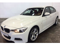 White BMW 320d M Sport Red Leather 2013 FROM £51 PER WEEK!