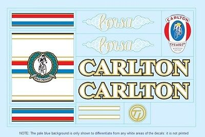 Carlton Bicycle Decals-Transfers-Stickers #4