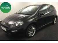 ONLY £128.64 PER MONTH BLACK 2013 FIAT PUNTO 1.4 JET BLACK 3 DOOR PETROL MANUAL