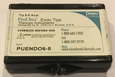 Dentsply Proultra Endo Assorted Tips 6-8 - Ultrasonic - Genuine - Endodontic