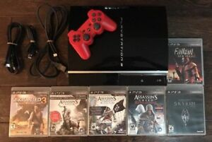 PlayStation 3 80GB Console Bundle (CECHL01) PS3 W/ 6 Games 1 Con