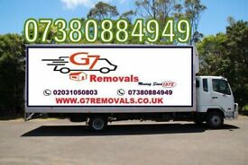 CHEAP VAN REMOVALS 7.5 TONNE TRUCK HIRE WITH DRIVER MAN AND VAN FULL HOUSE OFFICE FLAT REMOVAL
