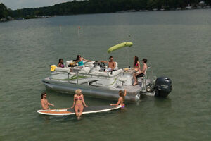 New luxury compact pontoon line NOW AT   Alberta Marine !!