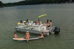 New luxury compact pontoon line NOW AT   Alberta Marine !!