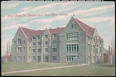 Bryn Mawr Pa College Dalton Hall Vintage Postcard Early Old Pennsylvania Pc