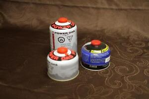 CAMPING COOKER/STOVE PROPANE/BUTANE CANISTER X 3