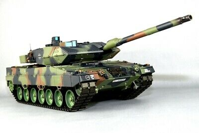 """RC Panzer """"German Leopard 2 A6"""" Heng Long 1:16 mit Rauch & Sound, Metallgetriebe"""