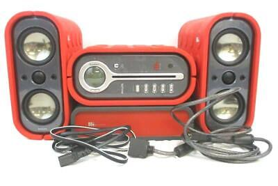 Philips MZ1100 Emotive CD MP3 Micro Stereo Shelf System Red Molded Silicone