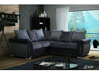 Absolutely Beautiful DFS corner sofa brand new grey and black
